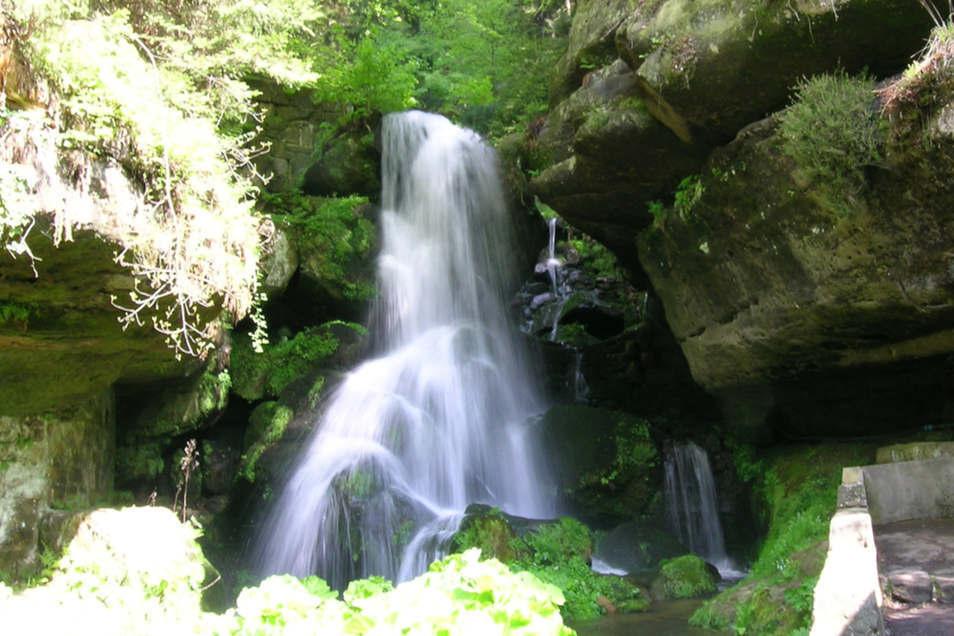 Am Lichtenhainer Wasserfall kann die Tour gemütlich ausklingen.