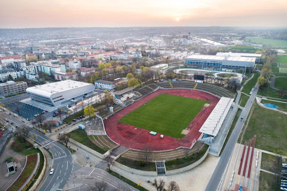 Aus dem Dresdner Heinz-Steyer-Stadion wird eine Arena für bis zu 15.000 Zuschauer.