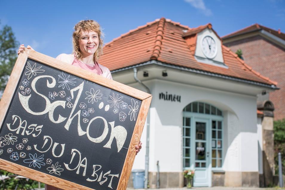"""""""Ich habe Bock drauf"""": Susanne Pelz ist die neue Betreiberin des Café Minou."""