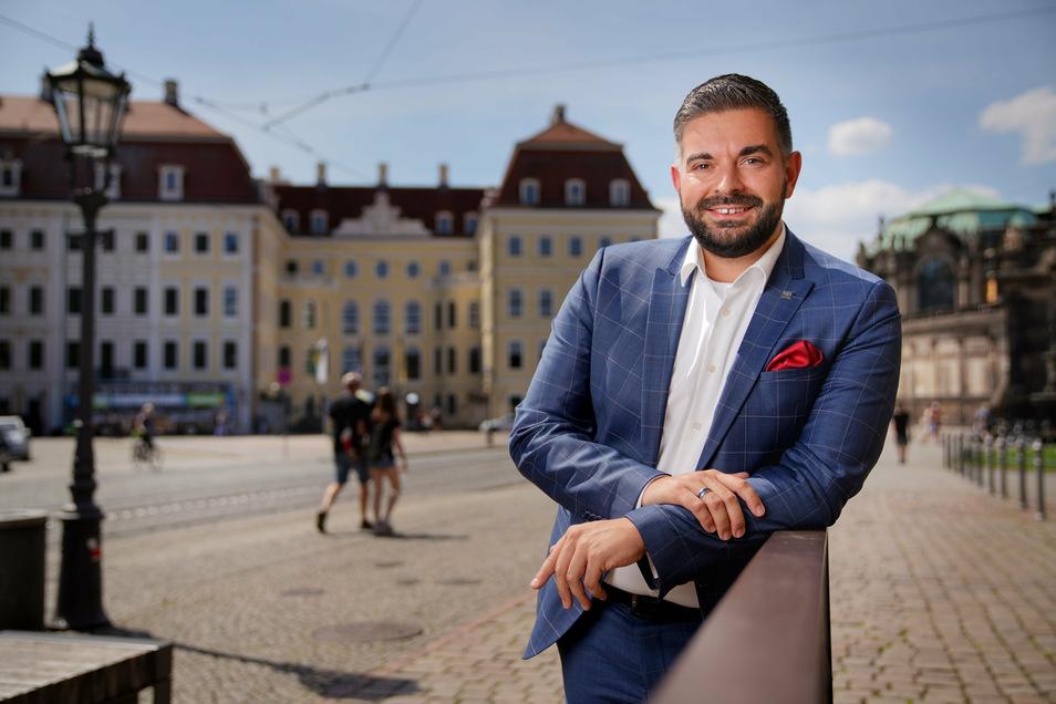 Max Rothe vom Kempinski Hotel Taschenberg Palais ist froh, wieder mehr Gäste empfangen zu können.