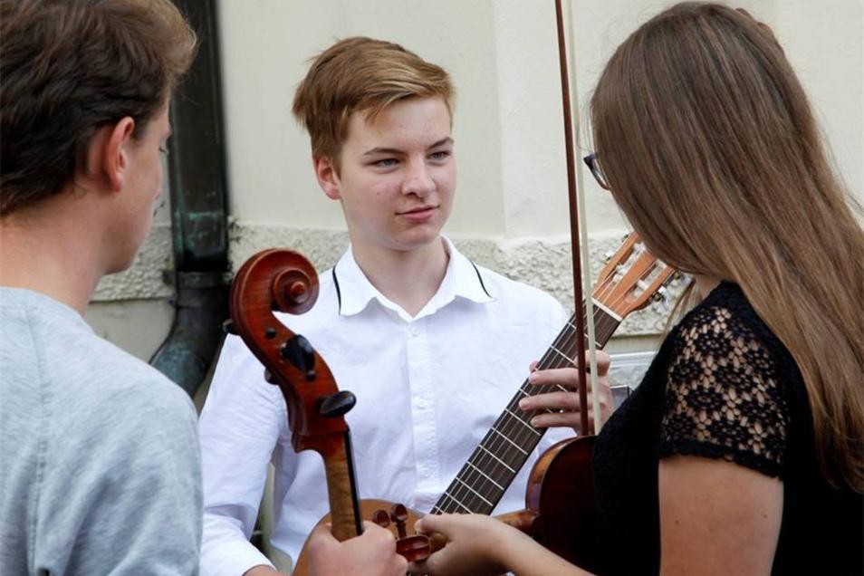 ...wie verschiedene Musikschulen im Klanggarten.