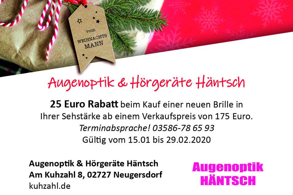 Augenoptik & Hörgeräte Häntsch,Am Kuhzahl 8, 02727 Neugersdorf
