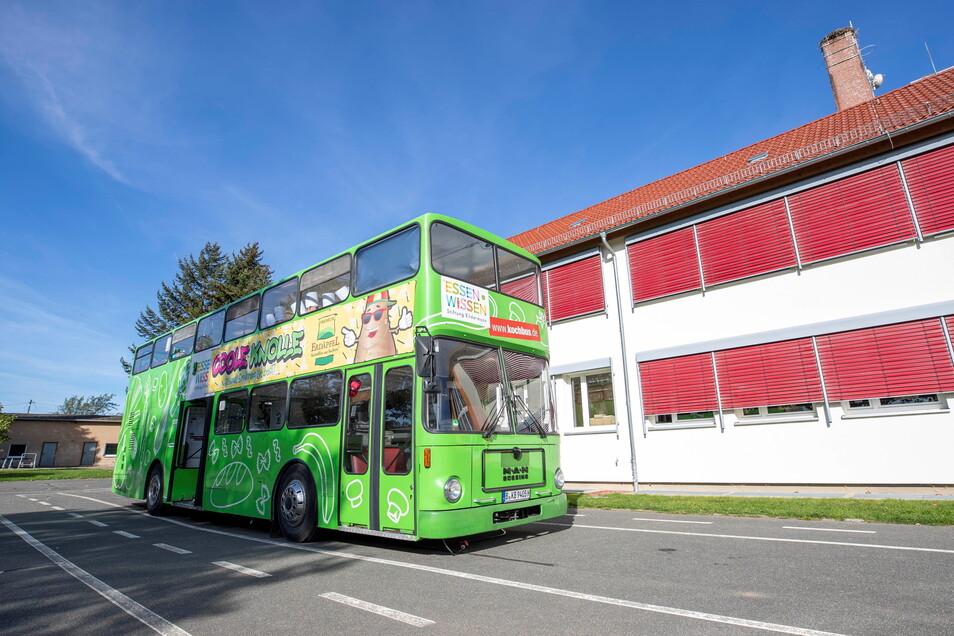 Der Kochbus besuchte die Grundschule Mohorn.