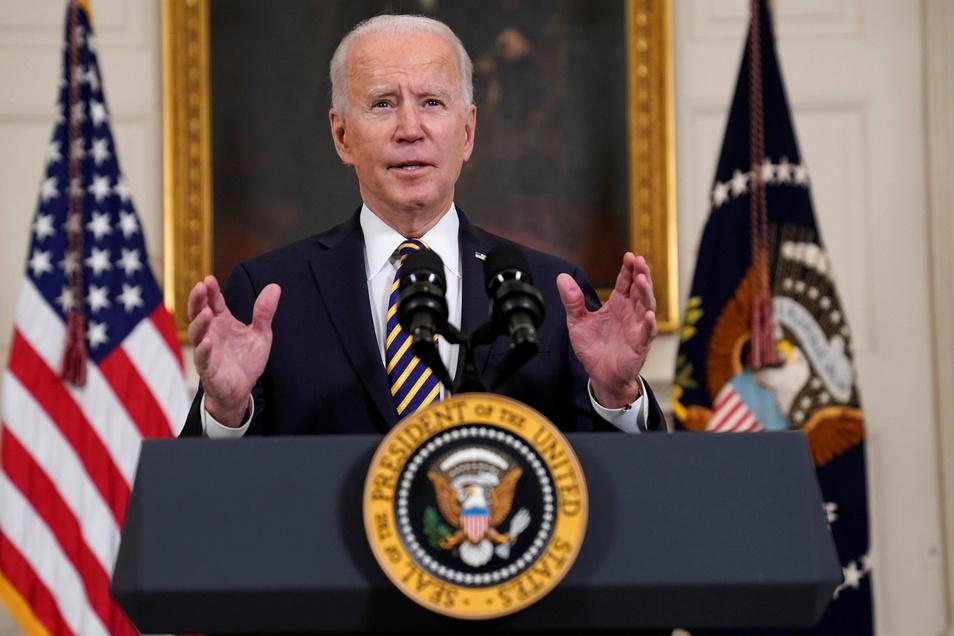 """US-Präsident Joe Biden hatte in einem Interview die Frage bejaht, ob Putin ein """"Killer"""" sei."""