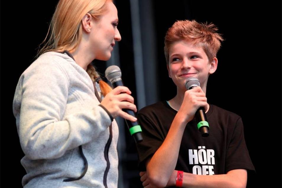 Oscar ist nicht nur der Sohn von Steffen Lukas, sondern auch Teil seiner Show.
