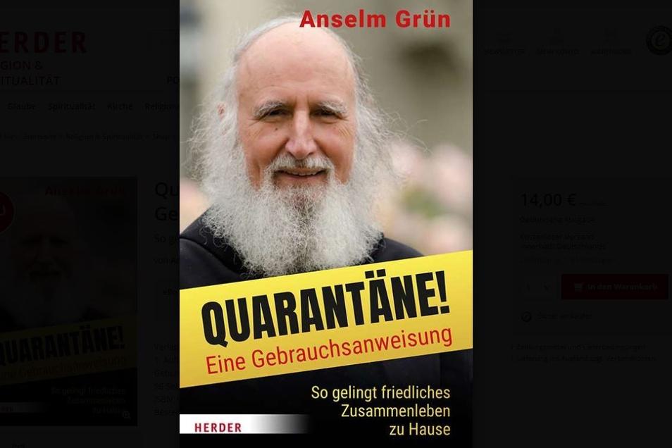 """Pater Grüns neuestes Buch: """"Quarantäne! Eine Gebrauchsanweisung"""". Herder-Verlag"""
