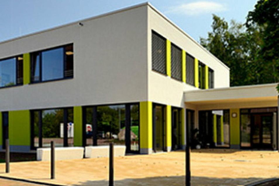 Aus dem Plan soll nun Realität werden: Der Modulanbau an die Dohnaer Grund- und Oberschule.