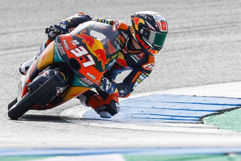 Pedro Acosta noch vor dem Unfall beim Moto3-Abschlusstraining.