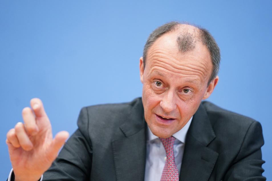 Friedrich Merz (CDU) ist einer von drei Bewerbern auf den CDU-Vorsitz. Am Freitag war er neben Norbert Röttgen und Armin Laschet zu Gast bei der Chemnitzer CDU.