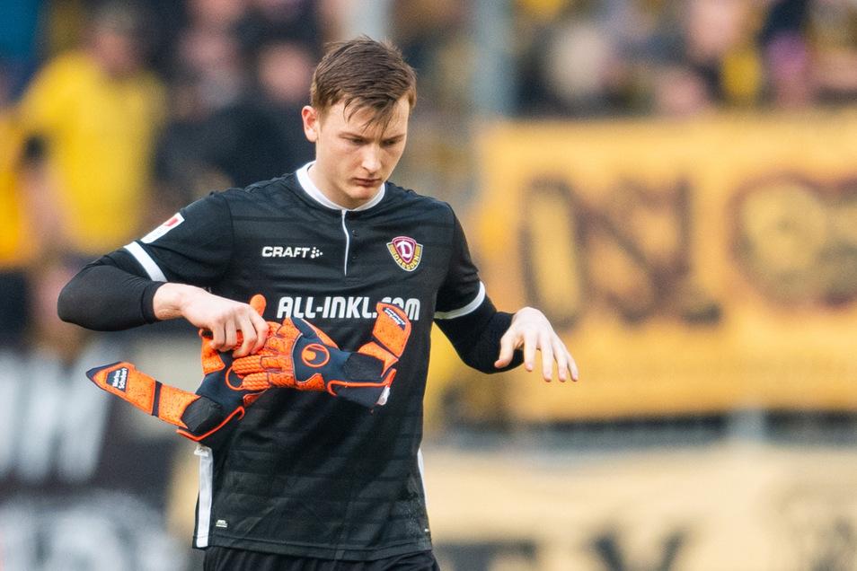 Er zieht die Handschuhe aus... Markus Schubert verlässt Dynamo nach der Saison und wechselt zu einem Bundesligisten.