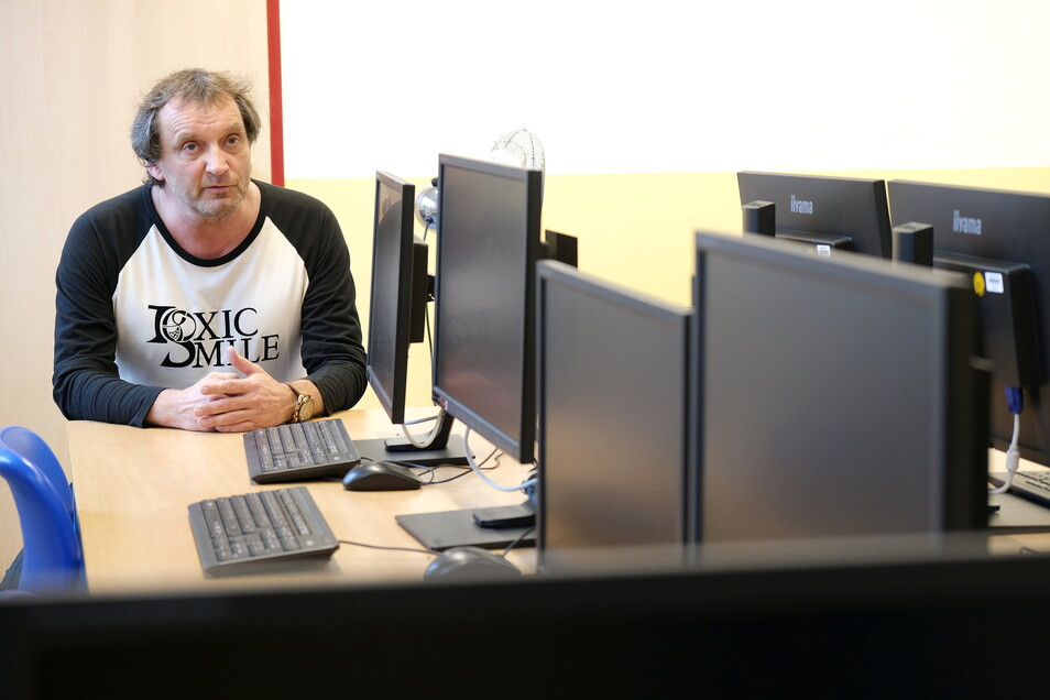 Der Lieblingsraum von Thoralf Koß, die Computerinsel.