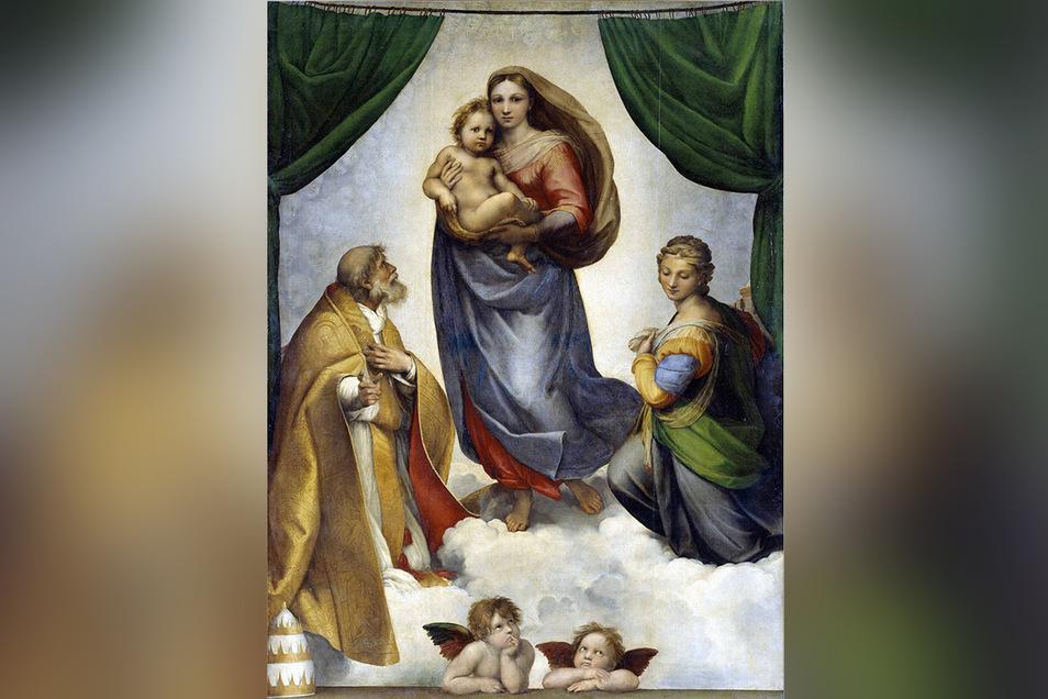"""25.000 Scudi bezahlte August III. für die """"Sixtinische Madonna"""": Das entsprach in Dukaten einem 43 Kilogramm schweren Haufen Gold."""