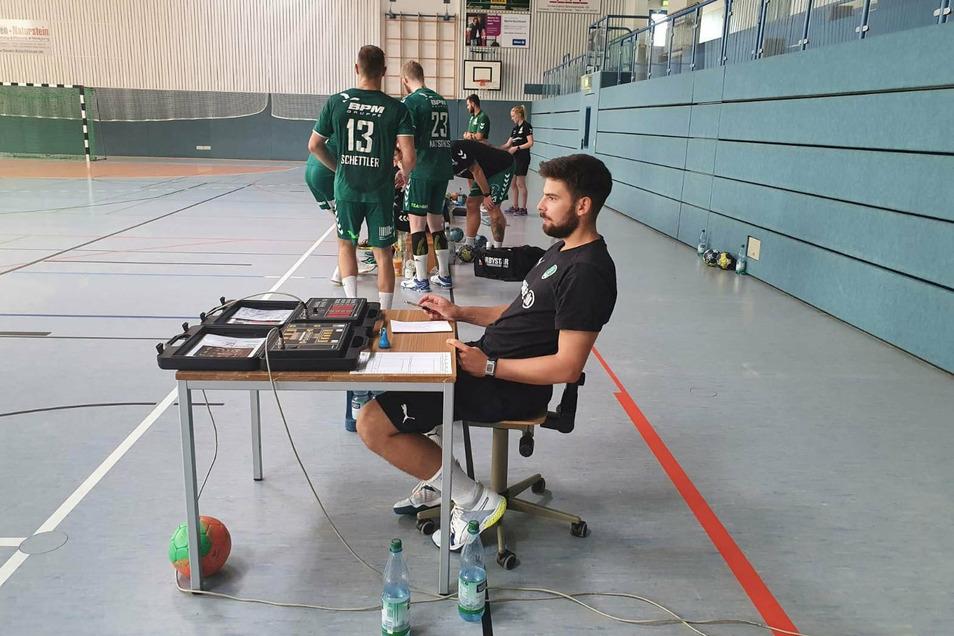 Der Großenhainer Jonas Hönicke ist derzeit Co-Trainer bei den Leipzigern, fällt verletzungsbedingt wohl bis zum Jahresende aus.
