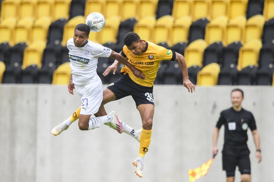 Dynamos Nachwuchshoffnung Ransford-Yeboah Königsdörffer gehörte einmal mehr zur Anfangsformation. Dass es ihm noch Erfahrung fehlt, hat dieses Spiel gezeigt. Muss nach einer Stunde Spielzeit raus.