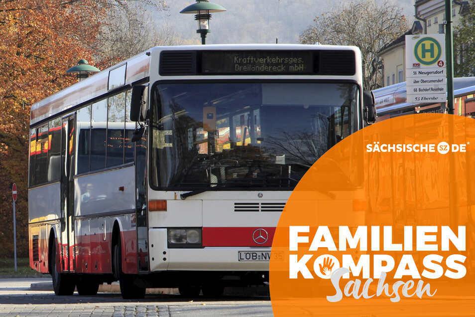 Mit den Busanbindungen - hier am Bahnhof in Löbau - sind nicht alle Südkreisbewohner zufrieden.