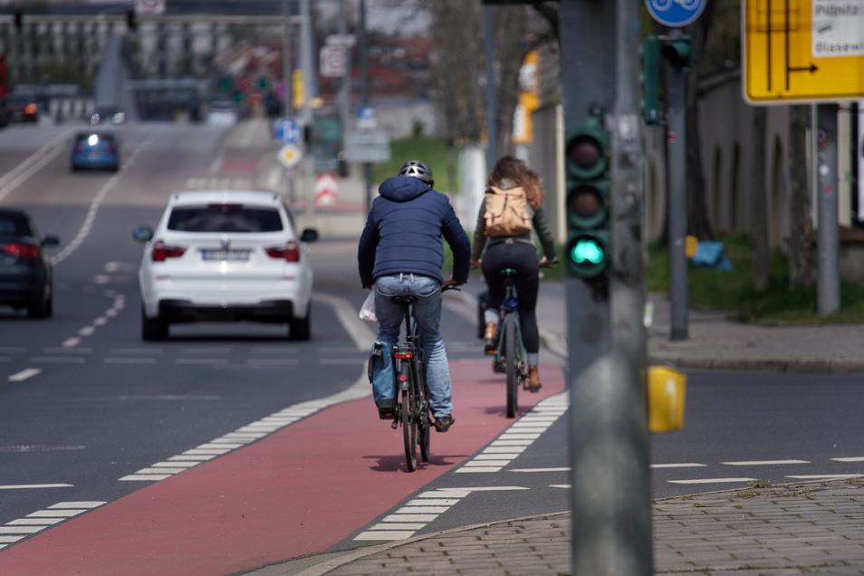 Hier entlang der Fetscherstraße könnte bald eine grüne Welle für Radler entstehen.