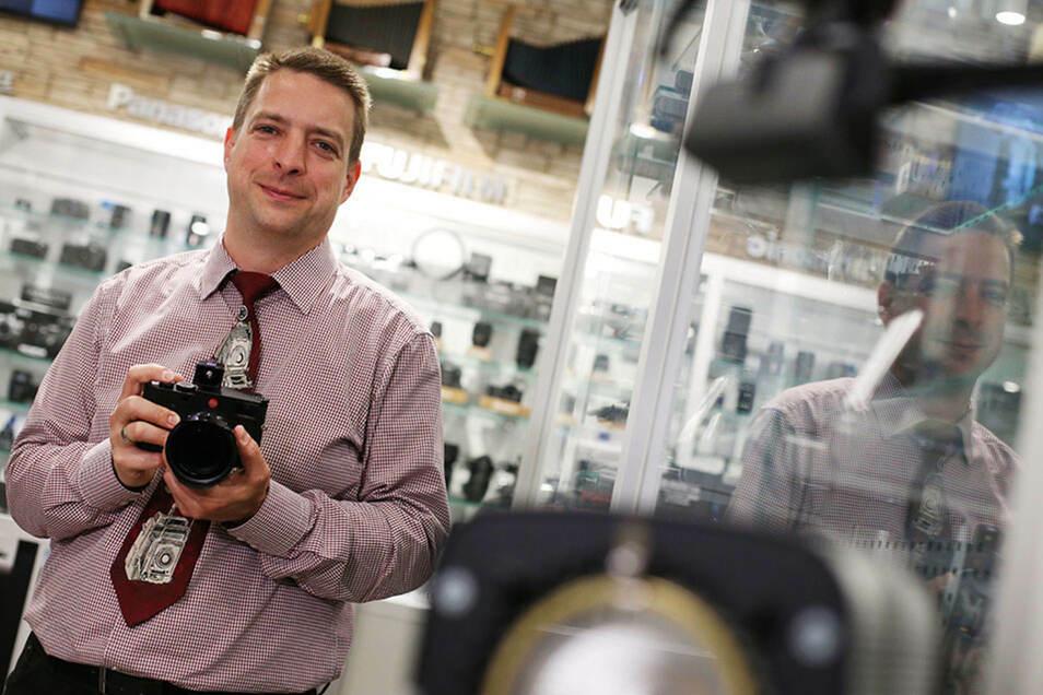 Inhaber Rico Wolf leitet das Foto-Fachgeschäft bereits in dritter Generation.