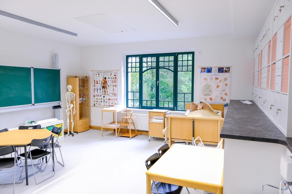 Das Fachkabinett für Pflege und Hauswirtschaft in der Schule für Sozialwesen.