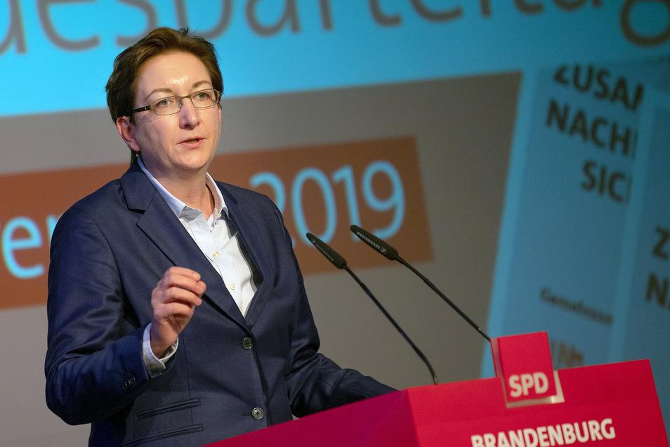 Klara Geywitz hat ihre Kandidatur als stellvertretende SPD-Parteivorsitzende angekündigt.