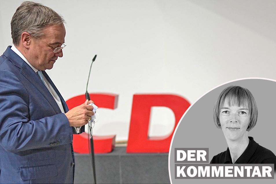 Armin Laschet ist bereit zum Rückzug und will selbst die Nachfolgesuche organisieren. SZ-Redakteurin Karin Schlottmann kommentiert den Fall des CDU-Vorsitzenden.