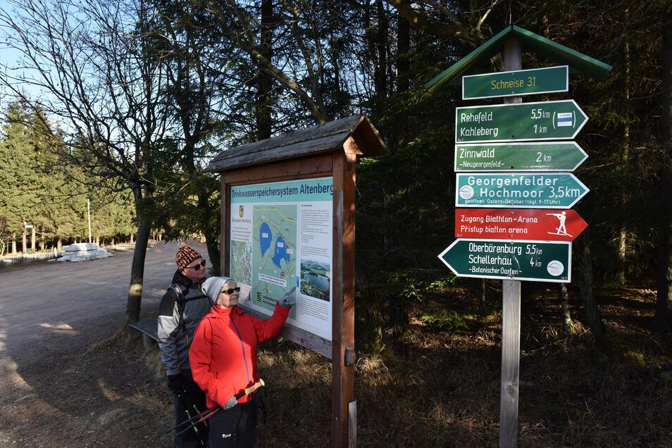 Familie Kasselt aus Cottbus war hier im Kahleberggebiet unterwegs.