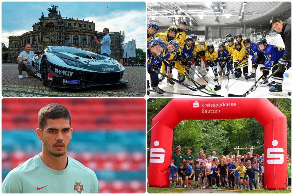 Die Protagonisten des Sportdonnerstags: das Dresdner Motorsportteam T3, die Nachwuchssuche bei den Lausitzer Füchsen, ein Benefizlauf in Bischofswerda und RB-Neuzugang André Silva.