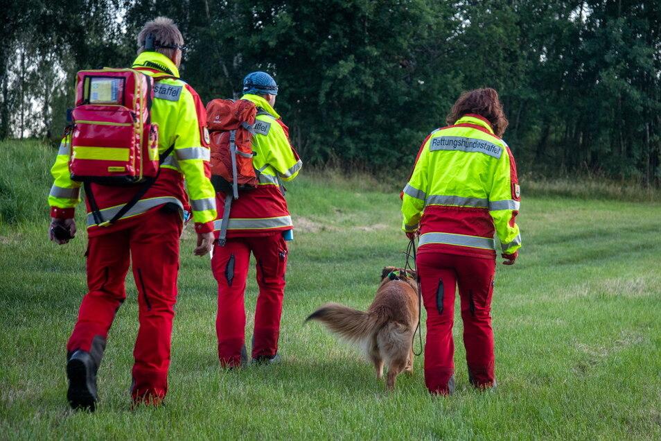 Eine Rettungshundestaffel suchte in der Nacht von Montag zu Dienstag eine vermisste Frau aus Pulsnitz. Die 70-Jährige wurde schließlich in einem Waldgebiet gefunden.