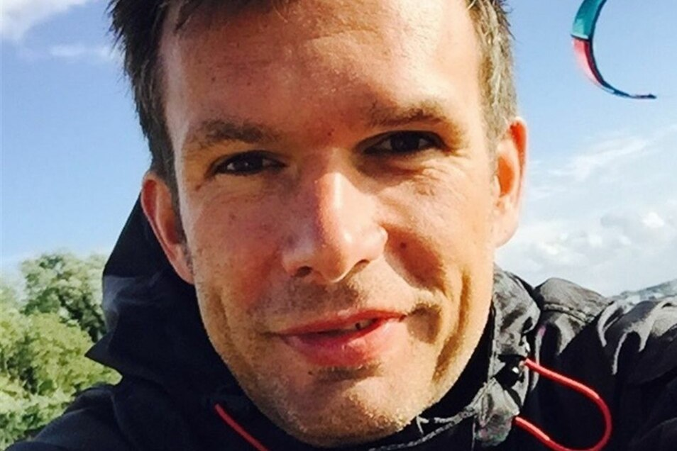 Sascha Barwick (41 Jahre) ist Vorsitzender des im vergangenen Jahr gegründeten Vereins Kitesurf Lausitz.