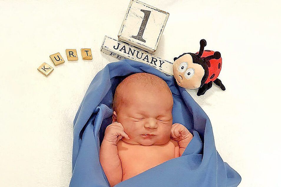 Der kleine Kurt war das Neujahrsbaby im Kamenzer Malteser-Krankenhaus. Wenige Stunden zuvor wurde in Bautzen bereits Simona geboren.
