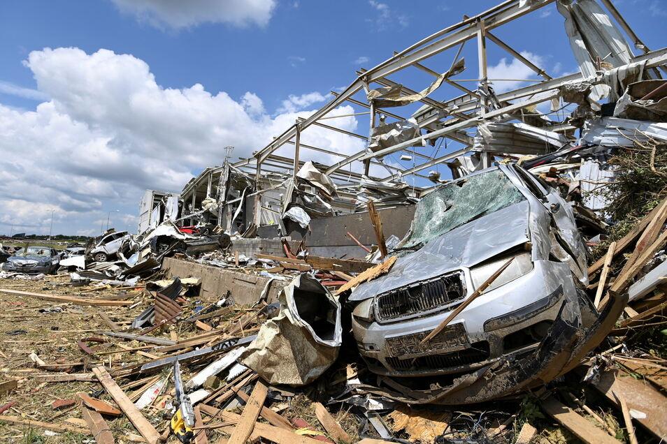 So sah es nach dem Tornado am 24. Juni im Südosten Tschechiens aus.
