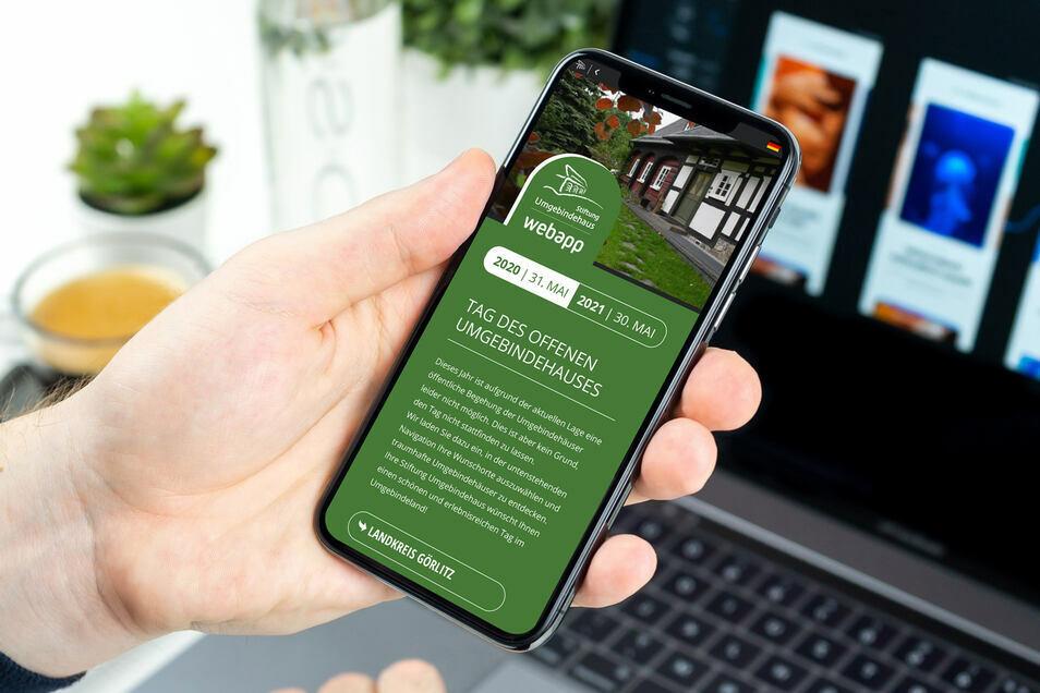 Es gibt seit 2020 eine neue Webapp für den Umgebindehaus-Tag.