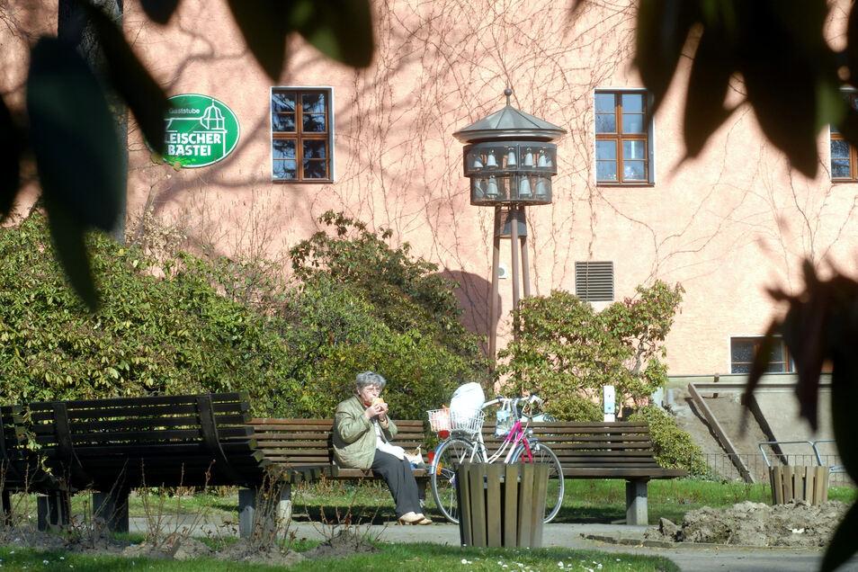 Unterstützt wurde auch das Glockenspiel an der Zittauer Blumenuhr.