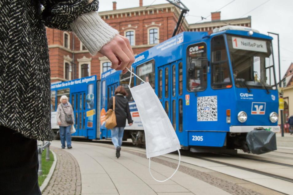 Während des Corona-Lockdowns fahren in Görlitz viel weniger Menschen mit der Straßenbahn als sonst.