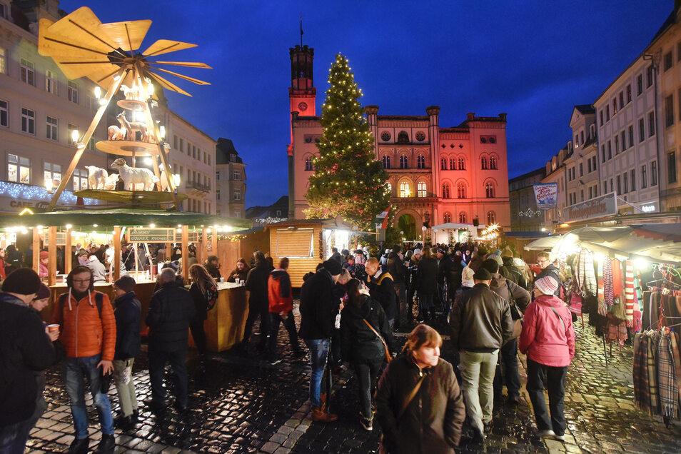 So sah das Lichterfest in Zittau im vergangenen Jahr aus.