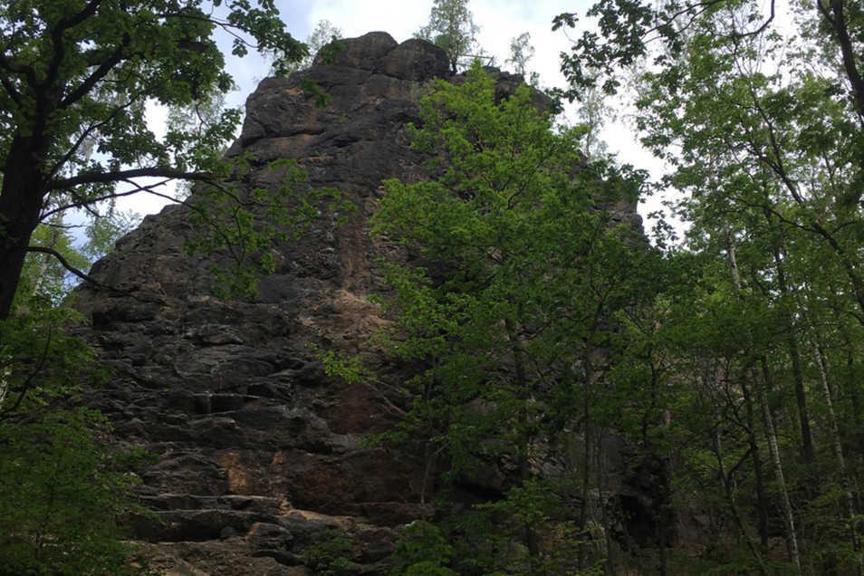 Der Gipfel des Hohen Steins besteht aus Syenit.