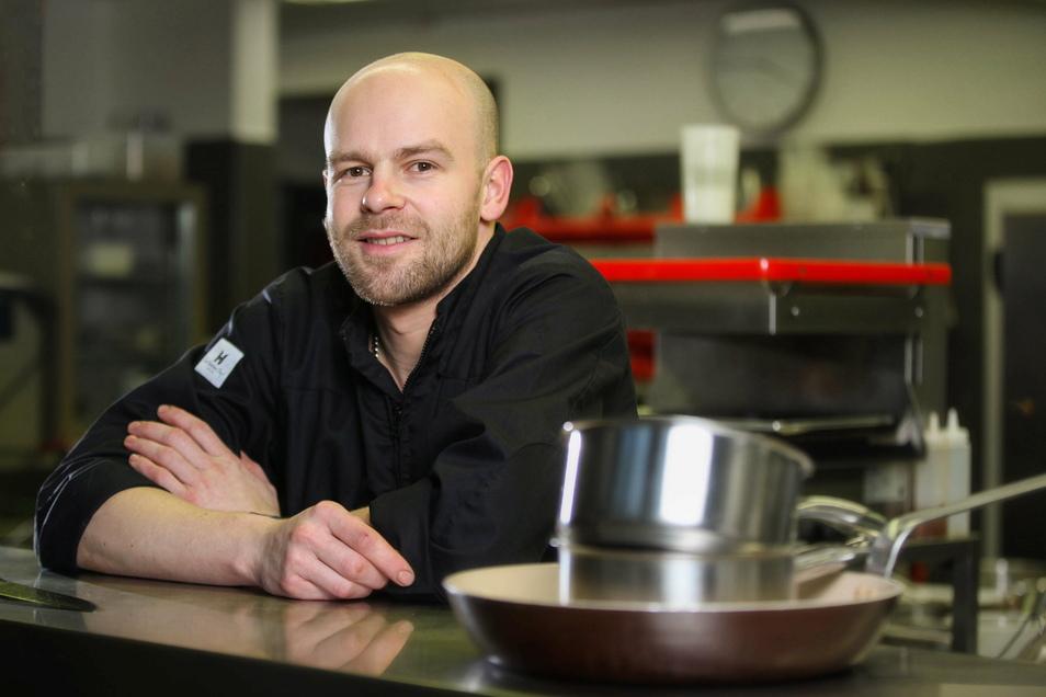 Stephan Mießner ist laut Gault Millau der beste Küchenchef Dresdens. Gerade arbeitet er an neuen Gerichten für 2021.