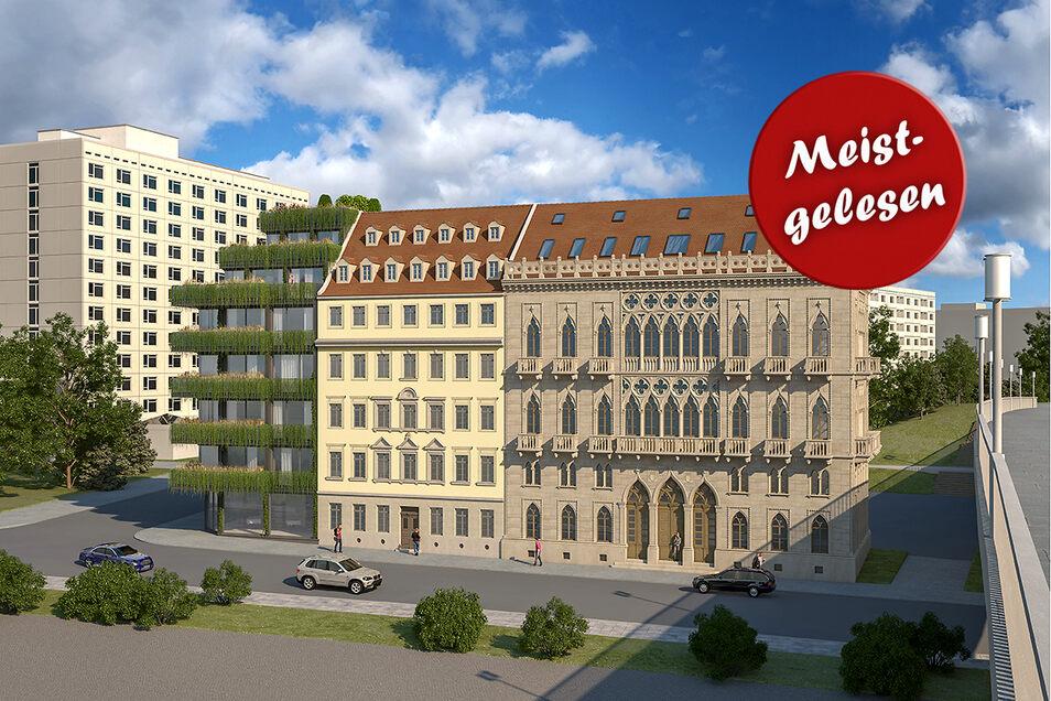 Der Dresdner Bauunternehmer Frank Wießner plant eine außergewöhnliche Kombination am Terrassenufer. Stimmen Sie mit ab, wie Ihnen das Projekt gefällt.
