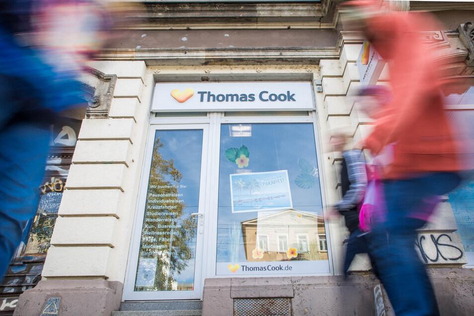 In Dresden betreibt Thomas Cook sechs Reisebüros, darunter eines an der Königsbrücker Straße.