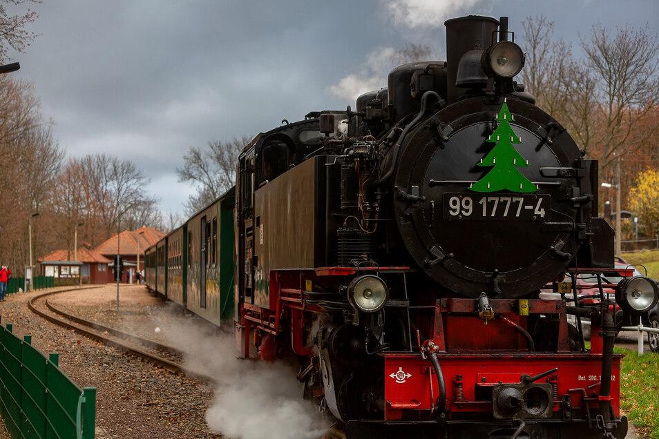 """Am erst Adventswochenende findet auf der ganzen Strecke zwischen Freital und Kipsdorf das Bahnfestival """"Bimmelbahn und Lichterglanz"""" statt. Das soll mit dem Dippser Markt verbunden werden."""