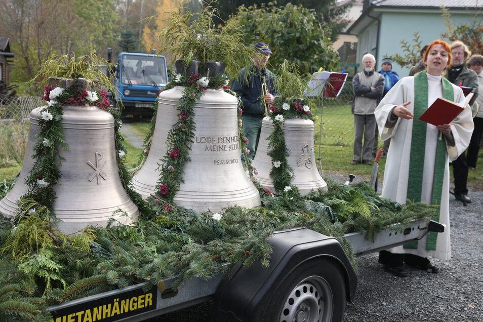 Die Glockenweihe im November 2009 war für Dorothee Fleischhack eines der großen Ereignisse in ihren Gottleubaer Jahren.