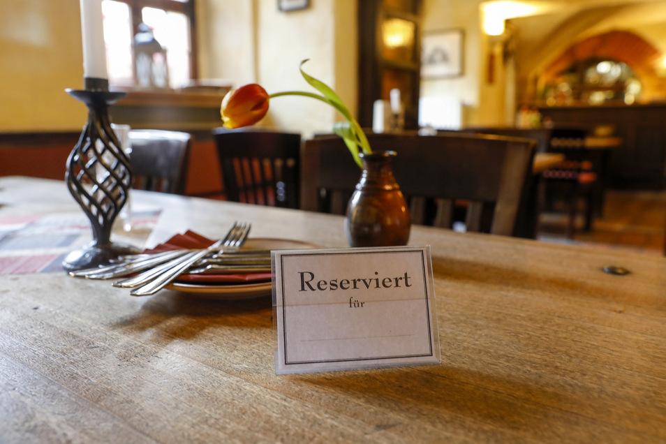 Tische werden reserviert, aber die Bestellungen nicht eingelöst.