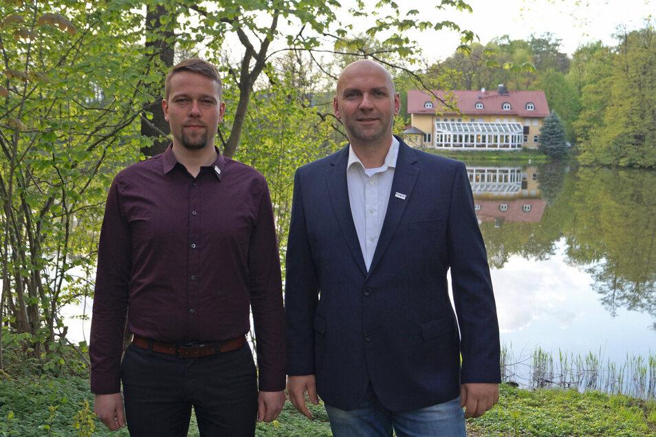 Die AfD-Kandidaten: Claudio Noack und Stefan Nitschke.