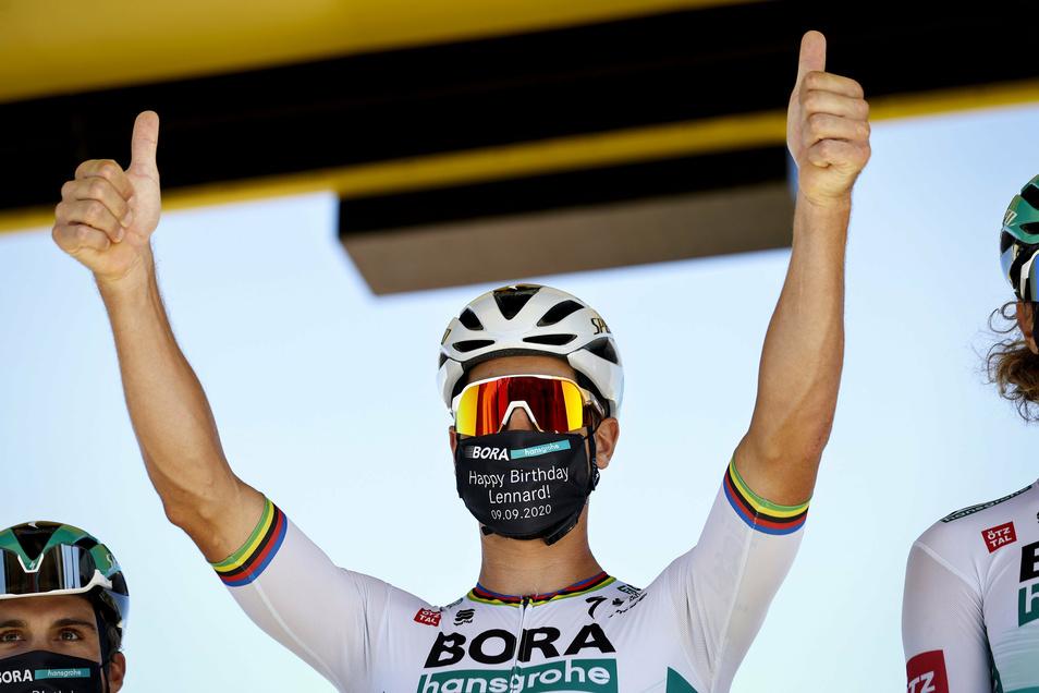 Vor dem Start noch optimistisch: Peter Sagan vom Team Bora - Hansgrohe.