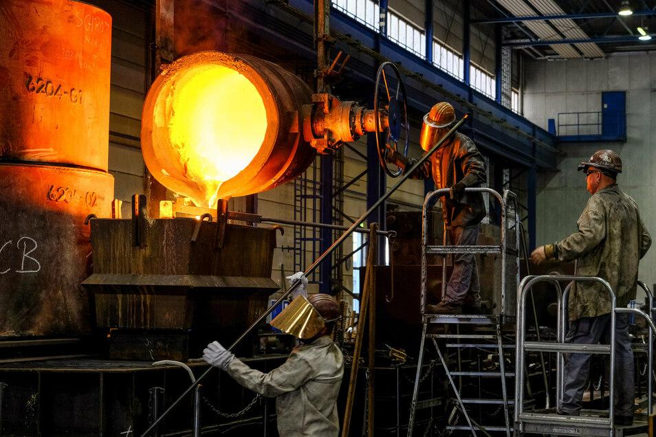 Langsam geht es für Deutschlands Industrie nach dem Corona-Tief wieder aufwärts.