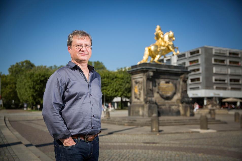 Torsten Kulke ist der Vorstandsvorsitzende der Gesellschaft Historischer Neumarkt Dresden. Die GHND will jetzt ein Bürgerbegehren gegen den Denkmalschutz des Neustädter Marktes auf den Weg bringen.
