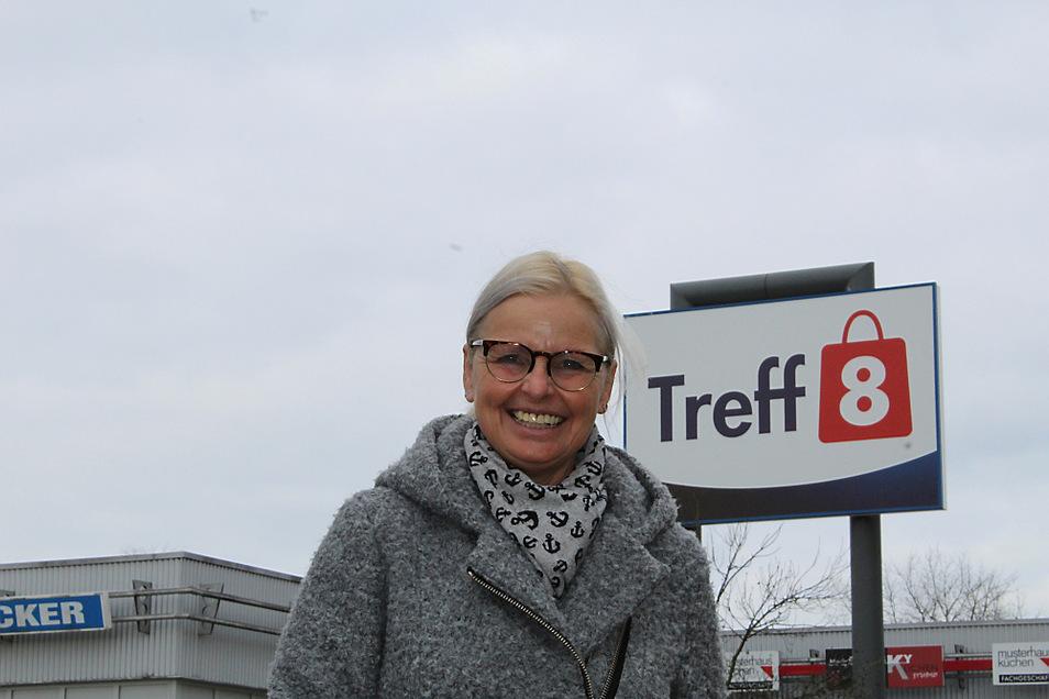 Kerstin Hanisch ist Managerin des Hoyerswerdaer Treff-8-Centers. Das Foto entstand im Februar 2020, als Corona weit weg schien...