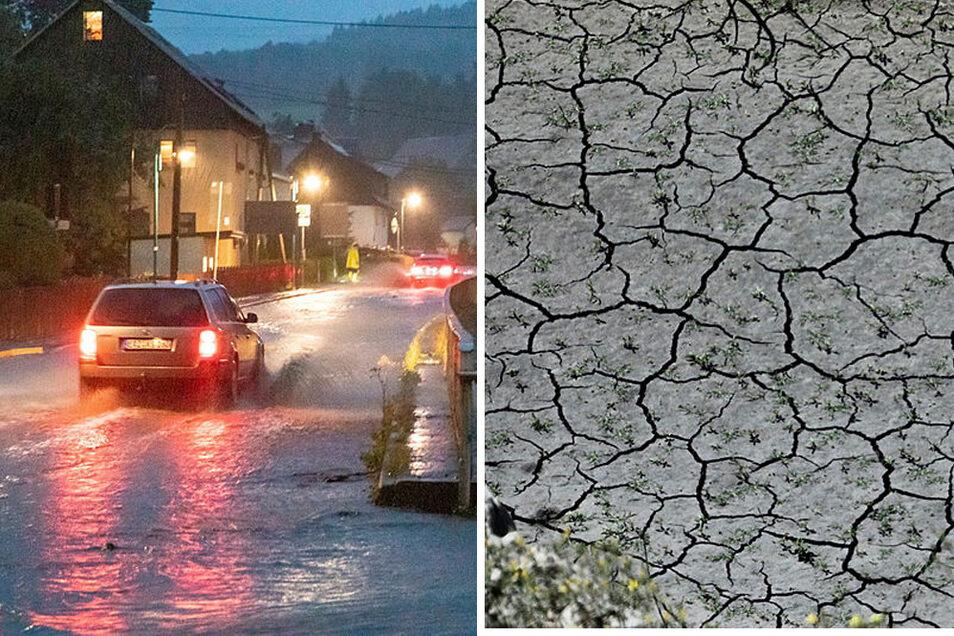Mehr Hochwasser und öfter Dürren sind Folgen des menschengemachten Klimawandels.