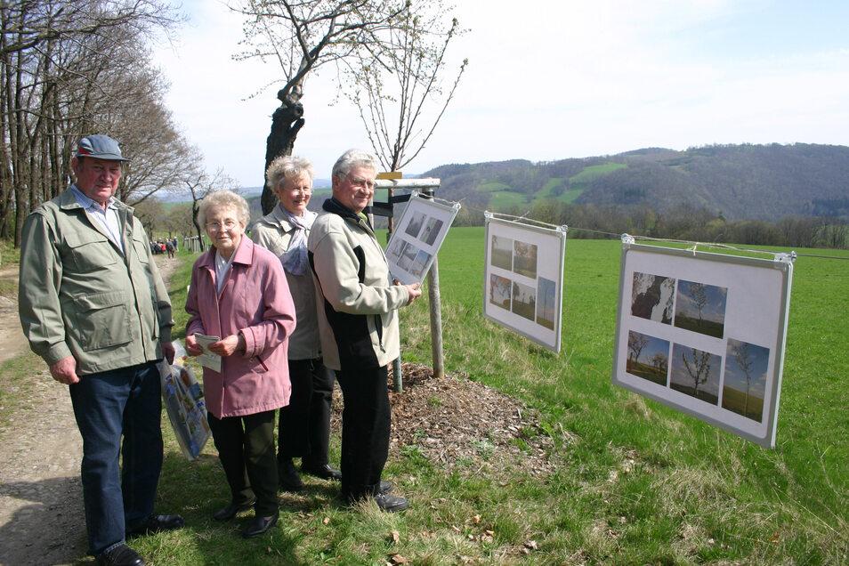 Schon vor zehn Jahren hatte es eine Fotoausstellung am Winzerweg gegeben.