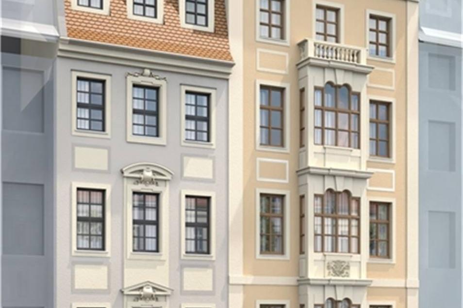 Auch das Klepperbeinsche Haus an der Frauenstraße bekommt seine historische Fassade.