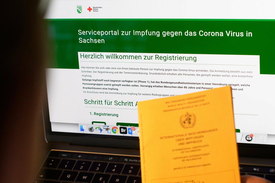 Das Onlineportal zur Buchung von Impfterminen in Sachsen.